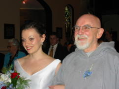 Brother Thomas More and Daughter at Wedding