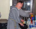 Brother Thomas More in kitchen