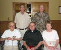 Ken's Dad Phil, his sibs Fr. Dan, John, Jerry, Jean