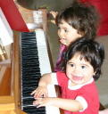 Carina and Graciela at Piano MAR 2006