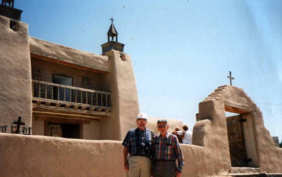 Fr Dan and Dad at Las Trampas