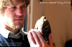 Ryan with Brown-capped Rosy-finch